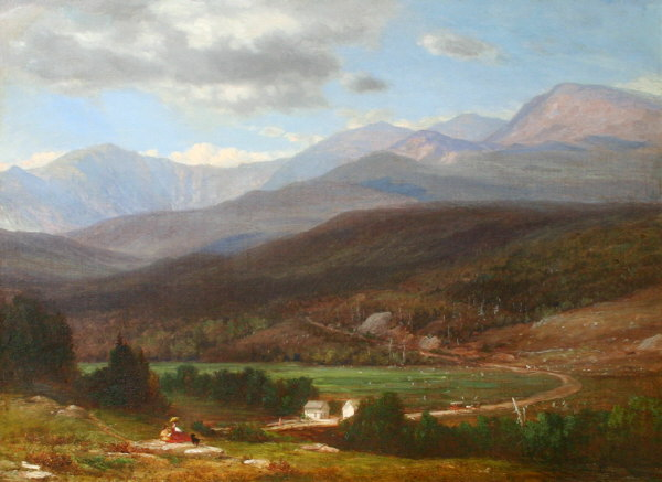 Mount Washington and the Carriage Road from the Glen House, Pinkham Notch by Samuel Lancaster Gerry