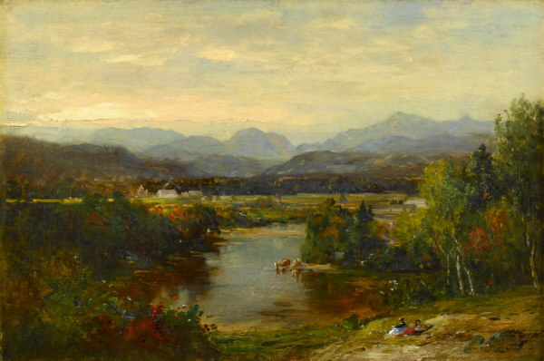 Franconia Notch and the Pemigewasset River from Campton by Samuel Lancaster Gerry