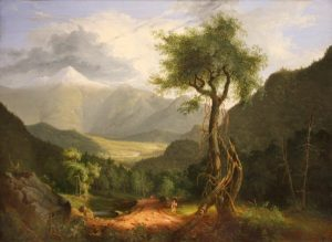 View in the White Mountains (Mount Washington from Bretton Woods) by Thomas Cole