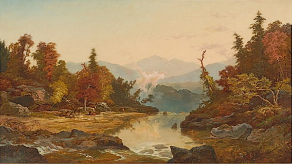 View from Diana's Baths on Moat Mountain, North Conway by Thomas J. Fenimore