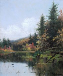Lake in the White Mountains, Autumn by William Henry Hilliard