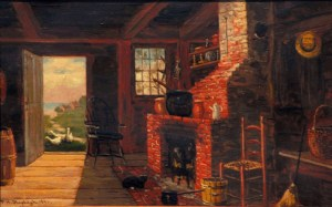 Old Kitchen, Kennebunkport, ME by Frank Henry Shapleigh