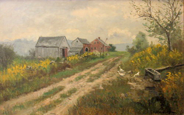 Old Farmhouse at Jackson by Frank Henry Shapleigh
