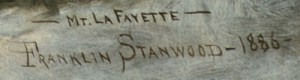 ---- Mt. LaFayette ---- / Franklin Stanwood -- 1886
