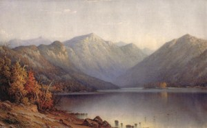 Eagle Cliff from Echo Lake by George Wellington Waters
