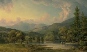 Mount Chocorua from the Saco River by John White Allen Scott
