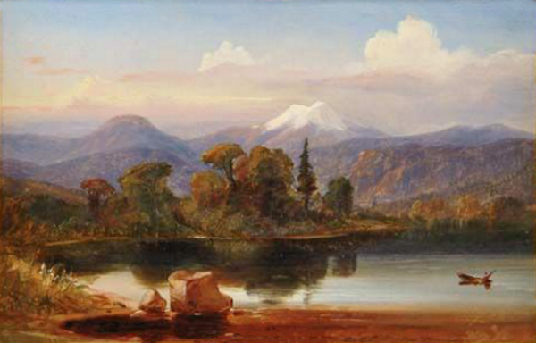 Mount Washington and Mount Clinton from Near Fabyan's, from the Ammonoosuc River  by Russell Smith
