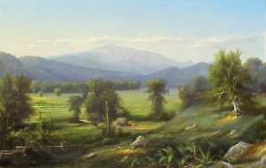 Mount Washington with Haying on the Intervale by an Unknown White Mountain Artist