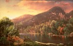 Autumn Sunset on Eagle Cliff and Profile Lake by William Louis Sonntag