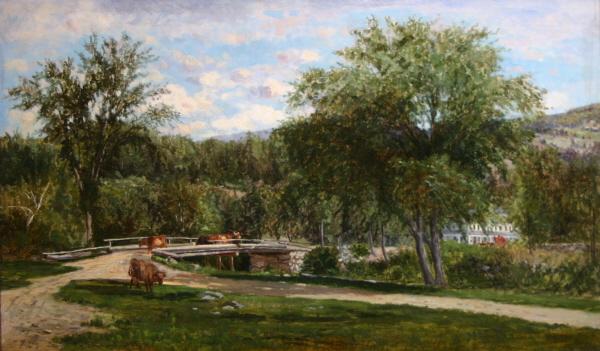 Bridge at Jackson, N. H. by Frank Henry Shapleigh