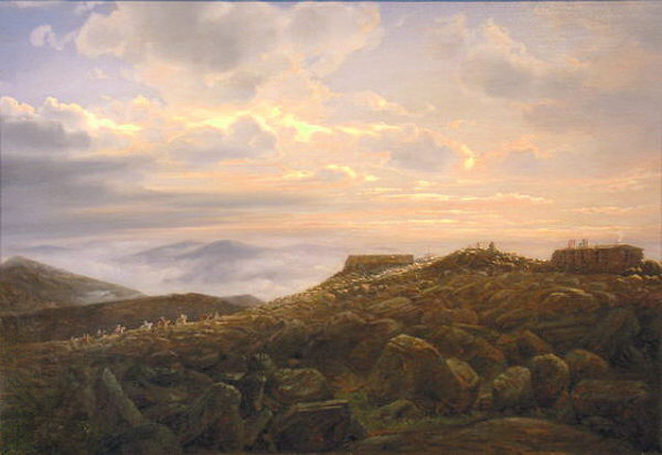 Summit House, Mount Washington by Ferdinand Richardt