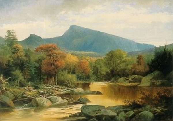 North Carter and Imp Mountain from the Peabody River, Gorham by John Mix Stanley