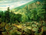 Leadmine Ledge below the Ridge of Mount Hayes, Gorham by John Mix Stanley