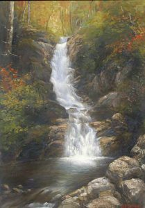 Pearl Cascade, Crawford Notch by Jean Paul Selinger