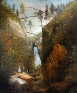 The Flume with Boulder by Josiah Wolcott
