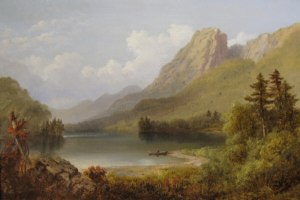 Eagle Cliff from Profile Lake by Russell Smith