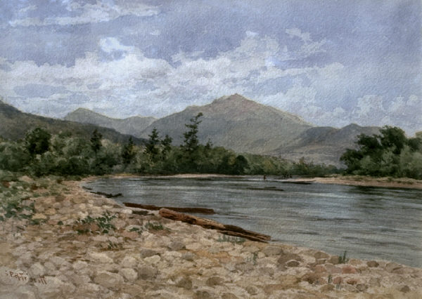 Mount Madison and the Androscoggin River from Shelburne by Samuel Peter Rolt Triscott