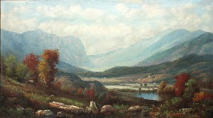 Franconia Notch from North Woodstock by an Unknown White Mountain Artist