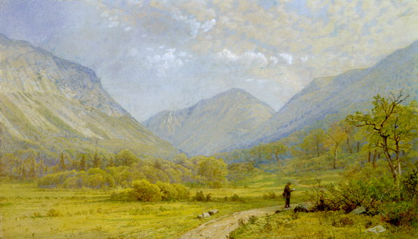 Franconia Notch and Eagle Cliff near Profile Mountain by William Trost Richards