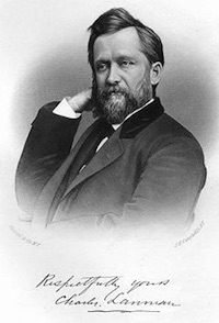 Engraved Portrait of Charles F. Lanman (1819-1895)