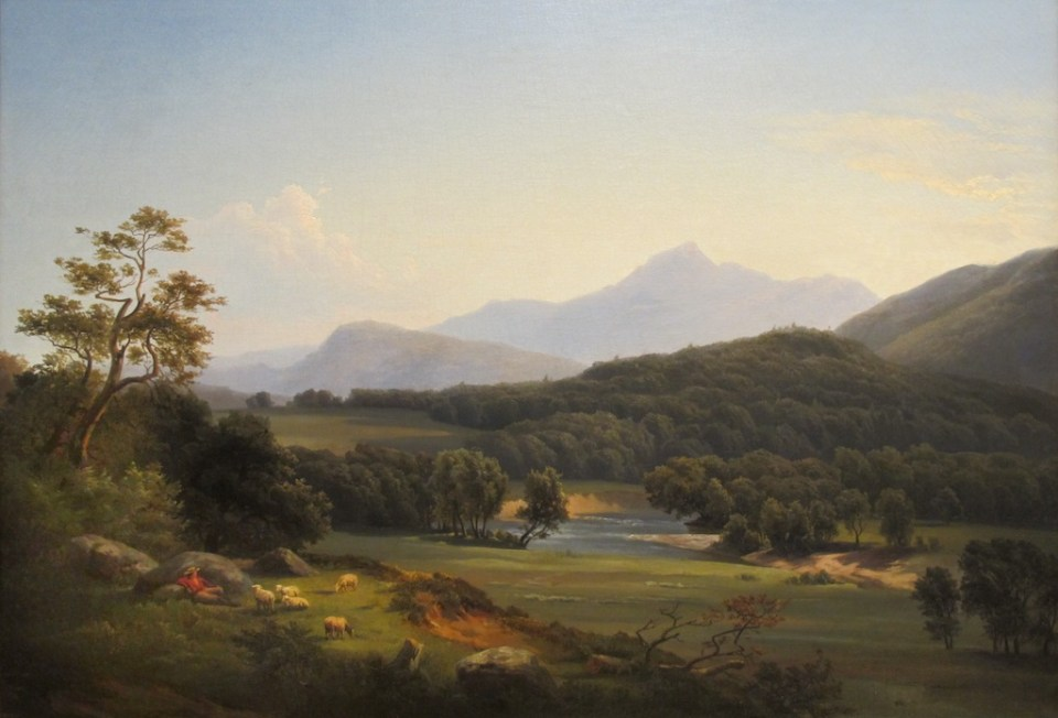 Mount Chocorua and Saco River from North Conway by Ann Sophia Towne Darrah