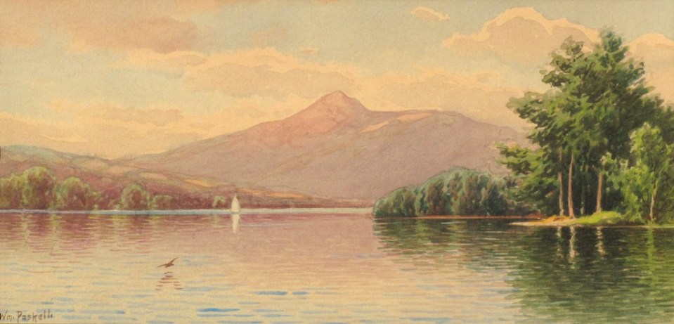 Mount Chocorua from Chocorua Lake in Tamworth by William F. Paskell