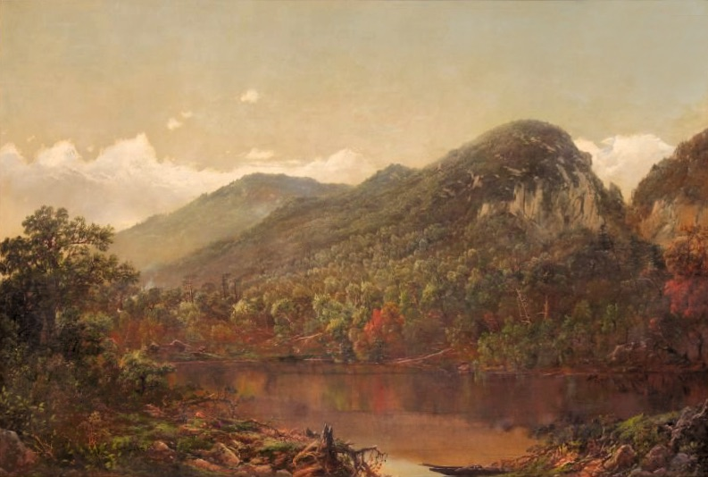 Eagle Cliff from Profile Lake by William Louis Sonntag