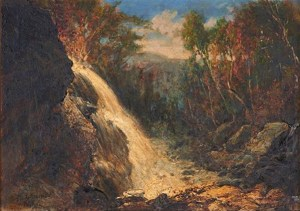 Mill Brook Cascade at Thornton by George Loring Brown