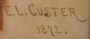 E.L. CUSTER / 1872.