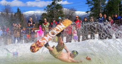 On and off the ski trails, wild & fun events mark Mt Washington Valley, NH calendar,  March – April