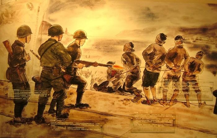 1947年3月8日國民黨軍在基隆港無差別式的屠殺。