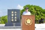 2016年1月28日,馬英九總統赴南沙太平島發表談話。圖片來源:C.C. by 總統府。