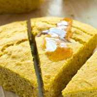 Pumpkin Spiced Cornbread Wedges