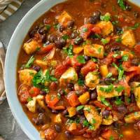 Healthy Crockpot Chipotle Chicken Chili