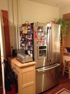 Before remodel - fridge