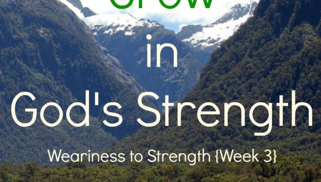How To Grow in God's Strength + WholeHearted Wednesday #190
