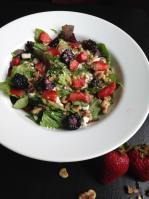 Strawberry, Blackberry and Walnut Salad with Feta