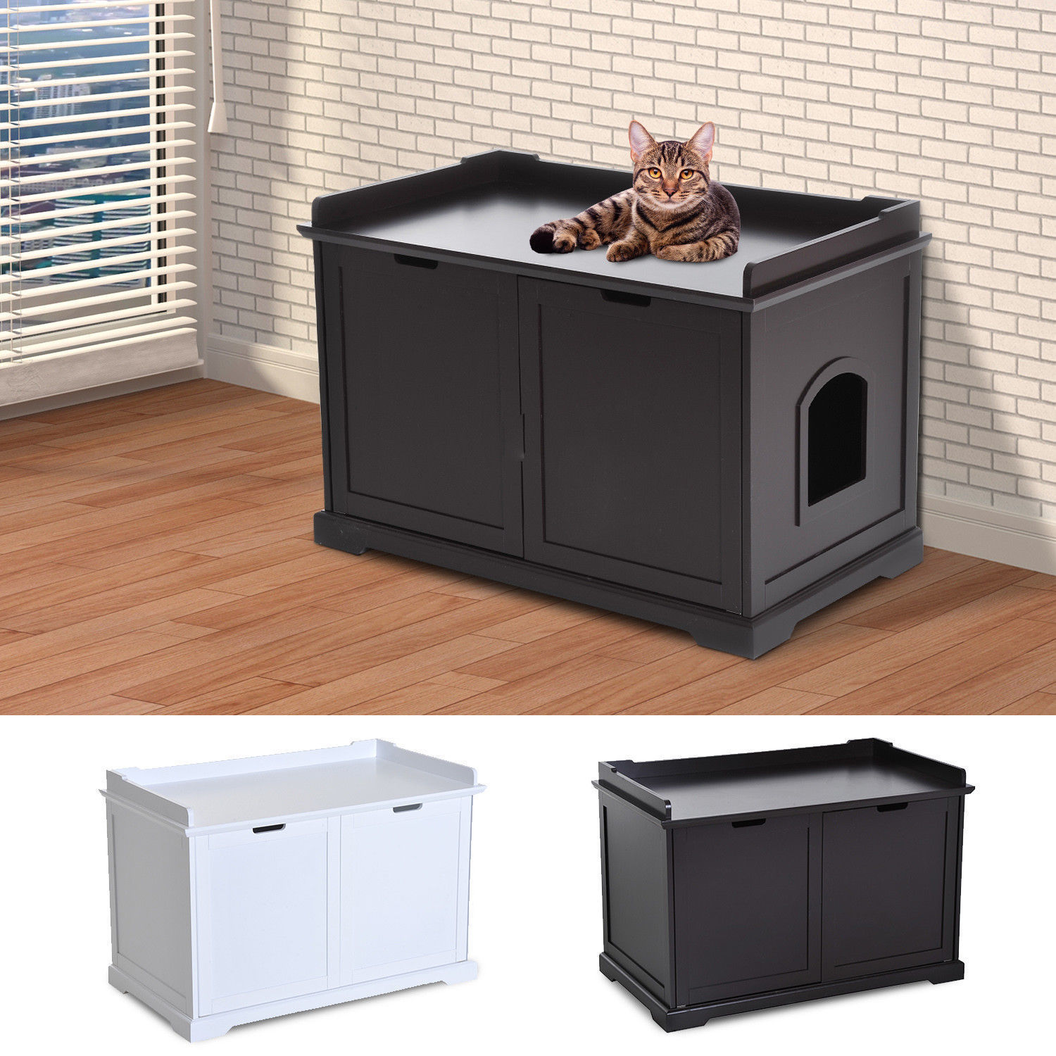 Hilarious Hidden Kitty Litter Box Bench Enclosure Hall End Table Cat Cabinet Or Espresso Hidden Kitty Litter Box Bench Enclosure Hall End Table Cat Cabinet Litter Box Cabinet Ideas Catteux Litter Box houzz-03 Litter Box Cabinet