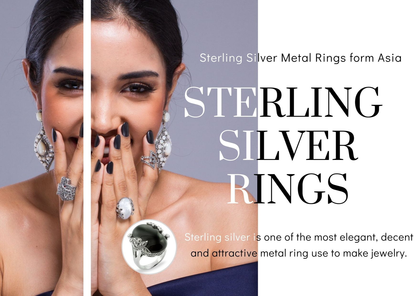 Combinations For Sterling Silver Metal Rings