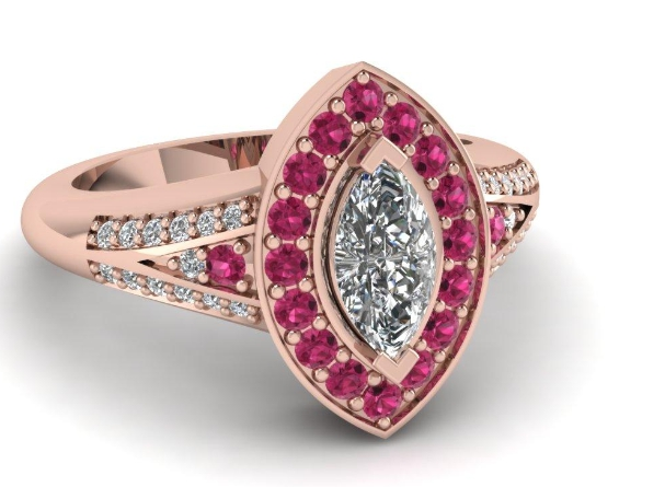 Pink Beautiful Marcasite Engagement Rings You Should Gift to Your Special One001