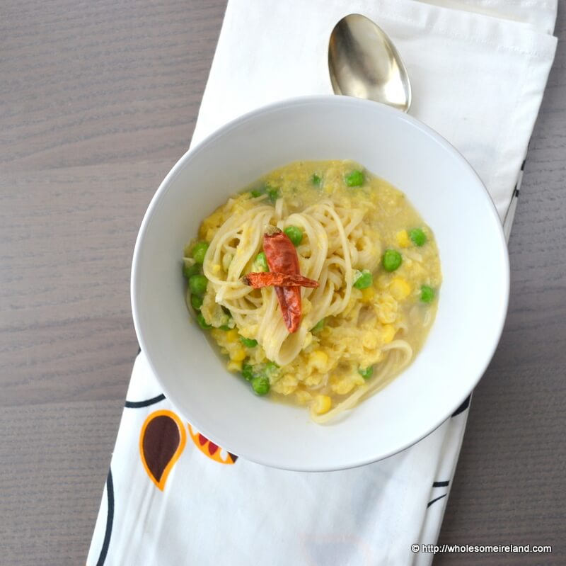 Creamed Corn Noodle Soup - Wholesome - Food & Parenting Blog