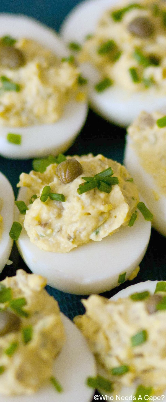 Caper Lemon Deviled Eggs | Who Needs A Cape?