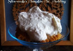 slow-cooker pumpkin pie pudding