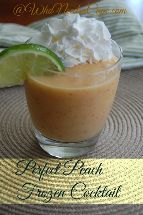 Perfect Peach Frozen Cocktail