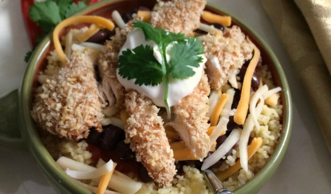 30 Minute Cheesy Chicken Fiesta Bowl a Chopped at Home Challenge