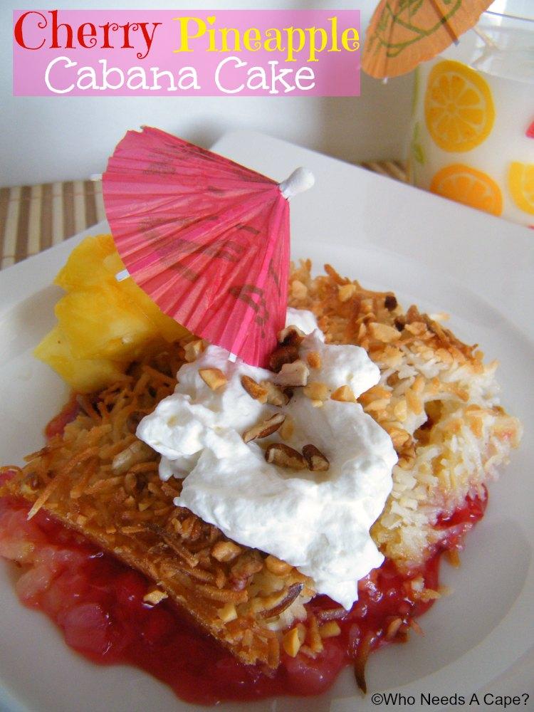 Paleo Cherry Pineapple Cabana Dump Cake