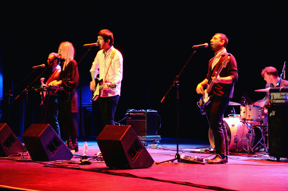 Ex Cops performs at the Meyer Theatre in downtown Green Bay as part of the Near Water Concert Series.