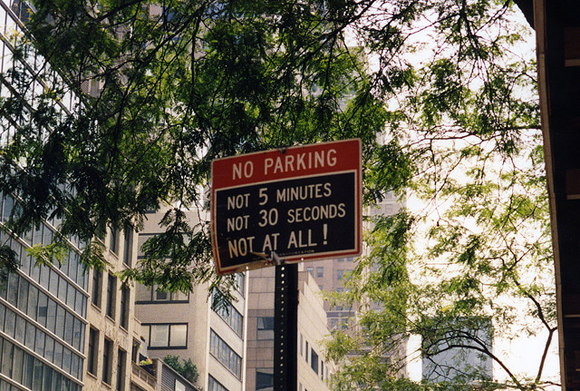 A No Parking Sign In New York