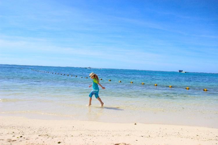 Flea on Mauritius Long Beach