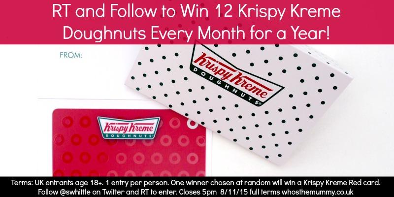 Win a Dozen Krispy Kreme Doughnuts Every Month for a Year
